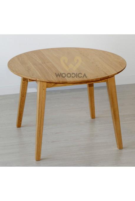 Stół dębowy okrągły 03