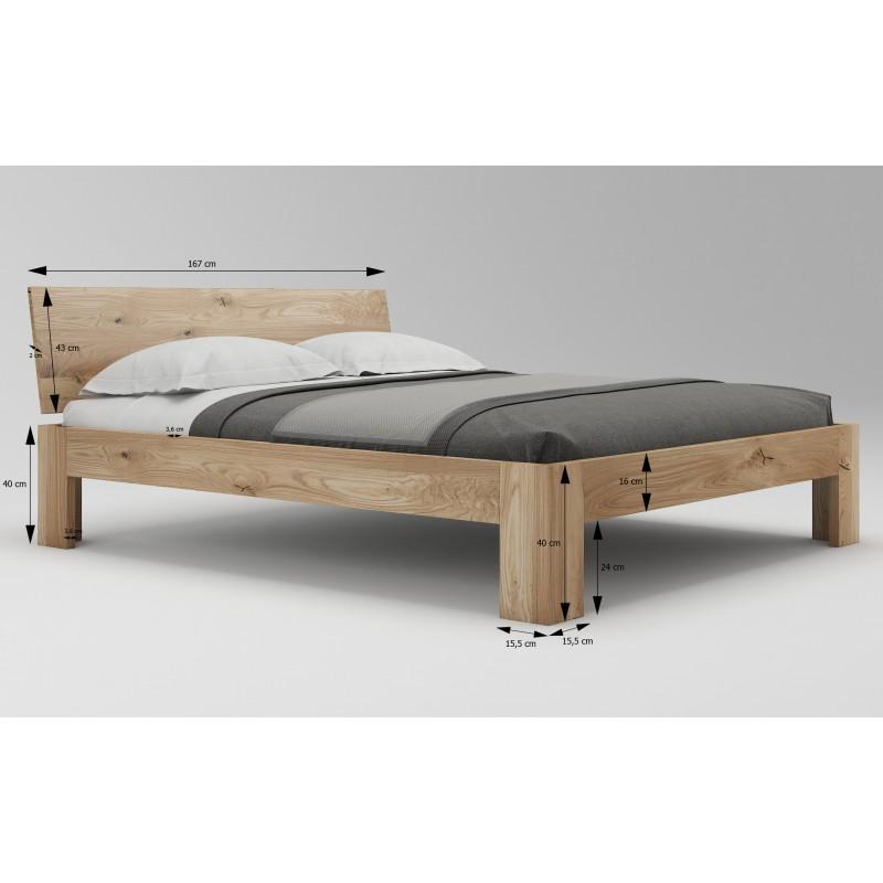 Łóżko dębowe Vernalis 05>                                         <span class=