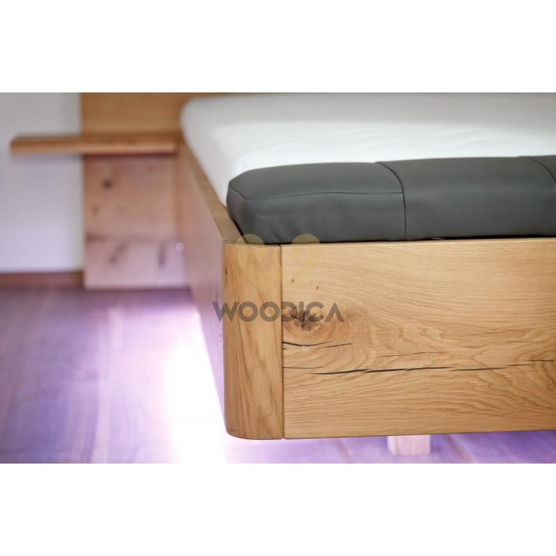Łóżko dębowe Borago 04>                                         <span class=