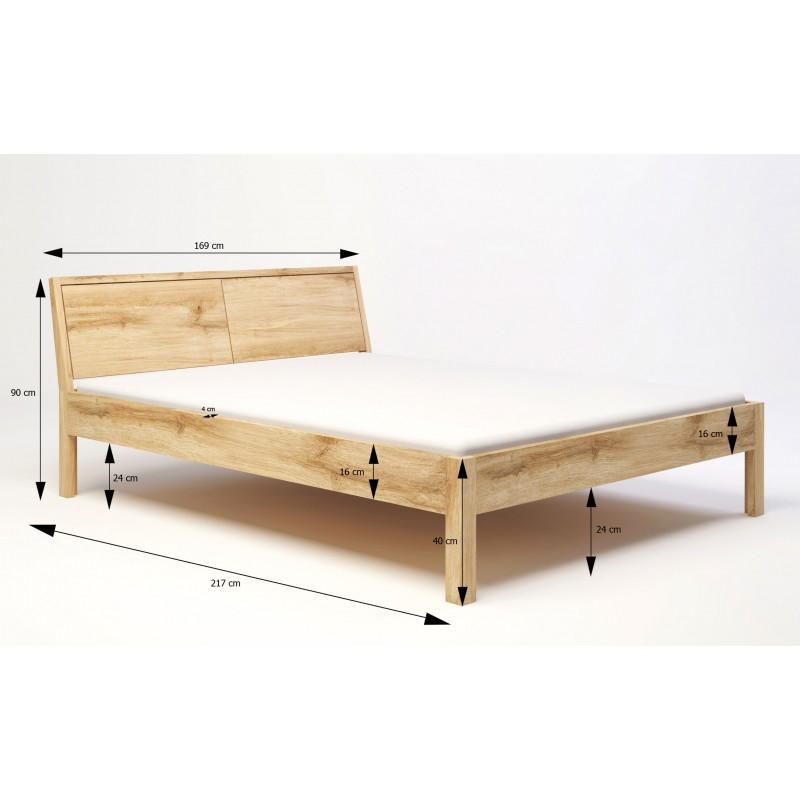 Łóżko dębowe Modern 02>                                         <span class=