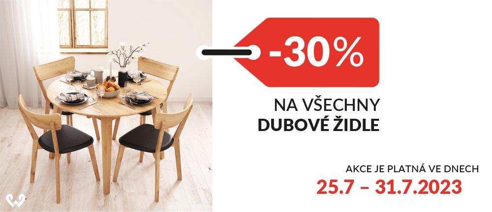 Židle dubové -30%