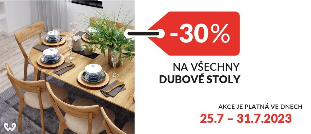 Stoly a lavice dubové -30%
