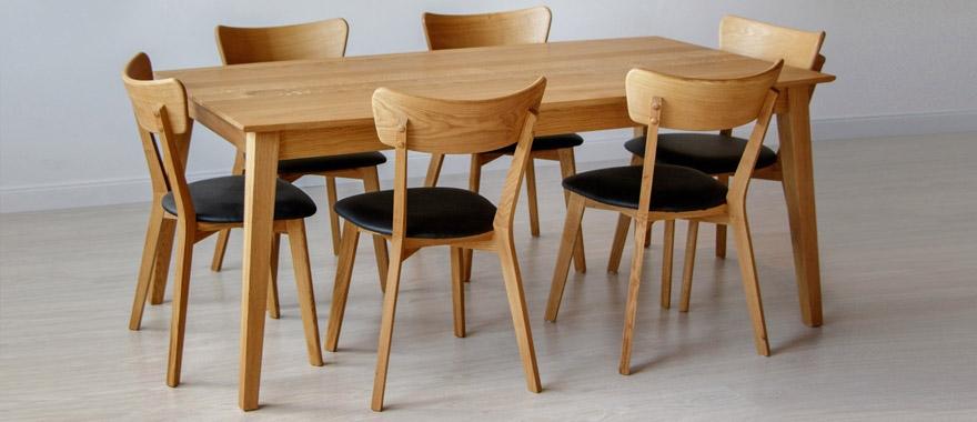 Stoly a lavice dubové