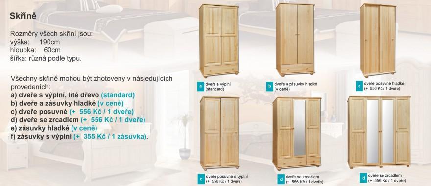 Borovicove skříně Klasické