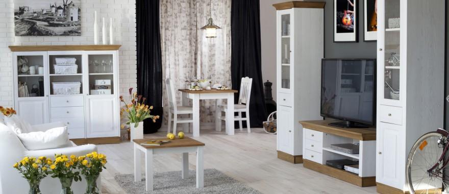 Bílý nábytek z masivu Roma