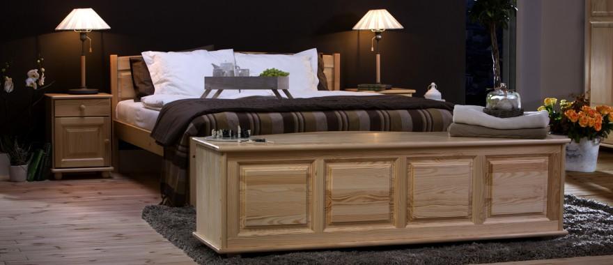 Borovicová postel Klasická