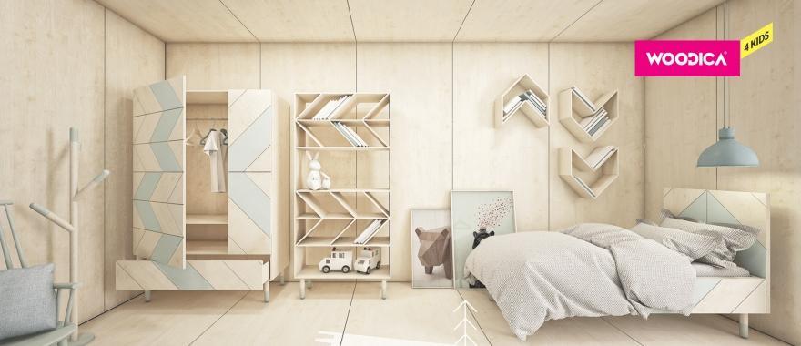Borovicový dětský nábytek Jodełka