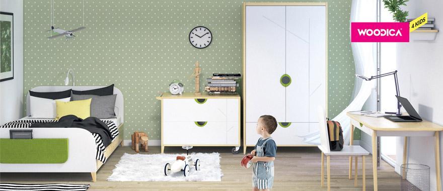 Bílý dětský nábytek z masivu Mikka
